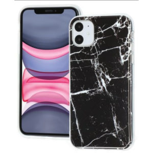 iPhone 11 TPU-Case Marmor Schwarz
