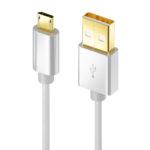 Micro USB Nylon extra lang 2m, Passernd zu vielen Modellen von Samsung, Huawei, HTC, Nokia