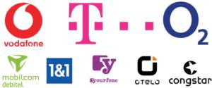 telekom vodafone 1&1 o2 yourfone mobilcom debitel